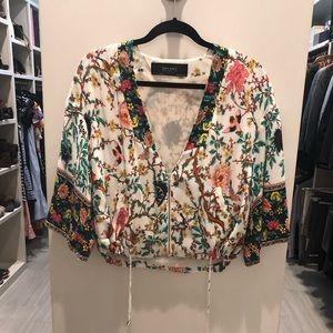 Zara floral print jacket